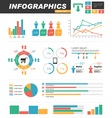 infographics statistics set vector image vector image