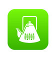 kettle icon green vector image vector image