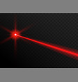 laser beam red light laser beam line ray vector image vector image