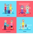 Leisure Activity Flat Concept vector image vector image
