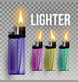lighter fuel ignite flaming style 3d vector image vector image