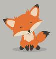 little red fox cartoon vector image
