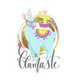 llamaste - funny poster or greeting card vector image vector image