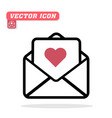 love letter icon white background im vector image