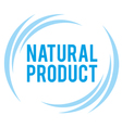 mark of the natural product vector image vector image