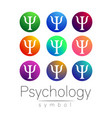 modern sign set of psychology creative style vector image vector image