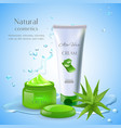 natural aloe cream background vector image vector image