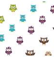 owl logo silhouette vector image vector image