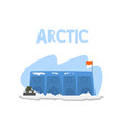 polar station expedition to the arctic vector image
