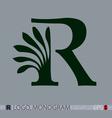 R monogram vector image