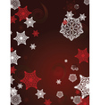 Red Background with Snowflakes4 vector image vector image