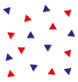 Red Blue Triangle Abstract White Background vector image vector image