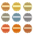set of blank stamps of gold red gold white gold vector image vector image