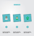 set of character icons flat style symbols with vector image vector image