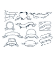 Set of ribbons templates for your text vector image vector image