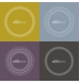 Set of round banners vector image vector image
