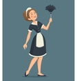 Smiling Cleaning Woman vector image