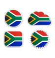 South Africa flag labels vector image