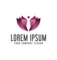 Spa people logo design concept template