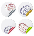 Stickers with a stamp vector image vector image