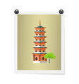 taiwanese tall building on isolated image on white vector image vector image