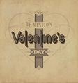 Vintage Valentines Template vector image vector image