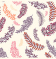 warm seamless pattern with branches floral vector image
