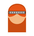 woman hippie lifestyle character vector image vector image