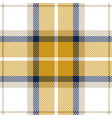 yellow and blue tartan plaid seamless pattern vector image vector image