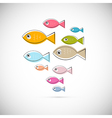 Colorful Abstract Fish Isolated on Light Gre vector image