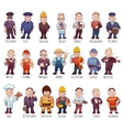 set of business people such as policeman vector image
