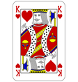Poker playing card King heart vector image