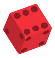 dice icon flat style vector image