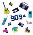 90s retro concept vector image