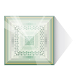 Abstraction with glass pyramid vector image vector image
