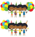 african-american girls hugging and holding vector image vector image