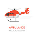 ambulance helicopter emergency medical service vector image vector image