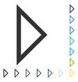 arrowhead right icon