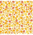 Autumn falling maple and oak leaves seamless vector image vector image
