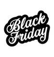 black friday sign lettering retro vector image