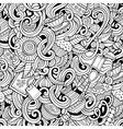 cartoon hand-drawn doodles cafe coffee shop vector image vector image