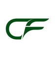cf c f creative modern black letters logo design vector image vector image