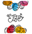 christial holiday greeting card happy easter vector image