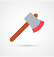 colored axe trendy symbol vector image vector image