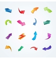 colorful collection 3d arrows vector image vector image
