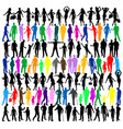 colorful people silhouettes vector image vector image