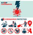 coronavirus covid19 protection concept vector image vector image