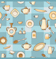 crockery seamless pattern vector image