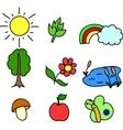 Cute icon set vector image vector image