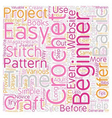 easy crochet patterns 1 text background wordcloud vector image vector image